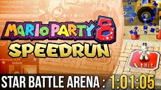 Mario Party 8 Star Battle Arena Speedrun in 1:01:05