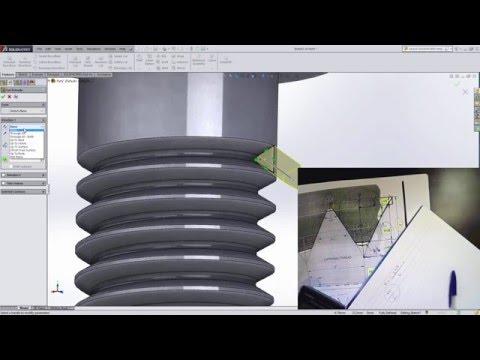Solidworks Tutorial Super Easy 3d Screw External Thre