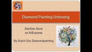 Diamond Painting Unboxing -- AliExpress -- StarStar Store -- Season trees