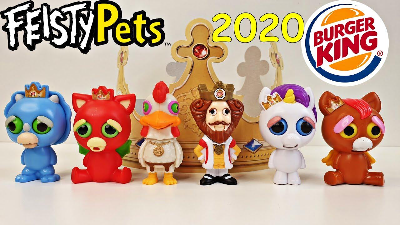 Feisty Pets King Jr Meal Burger King Complete Set Feb 2020 Youtube