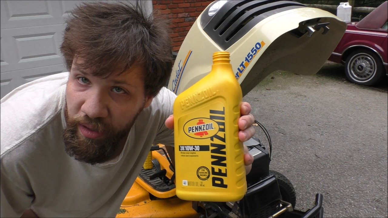 HOW TO CHANGE OIL ON CUB CADET SLT1550 LAWN TRACTOR