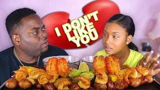 BEING MEAN To BEAST MODE To See How He React MUKPRANK (HUGE SHRIMP BOIL SEAFOOD MUKBANG) QUEEN BEAST