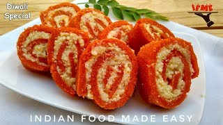 Diwali Special Milk Roll Recipe in Hindi by Indian Food Made Easy