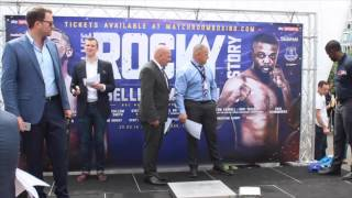 CRAIG GLOVER v DARREN SNOW - OFFICIAL WEIGH IN & HEAD TO HEAD  / REAL LIFE ROCKY STORY