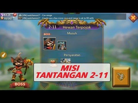 Kombinasi Hero MISI TANTANGAN 2-11 (Mission Challenge 2-11) _ LORDS MOBILE