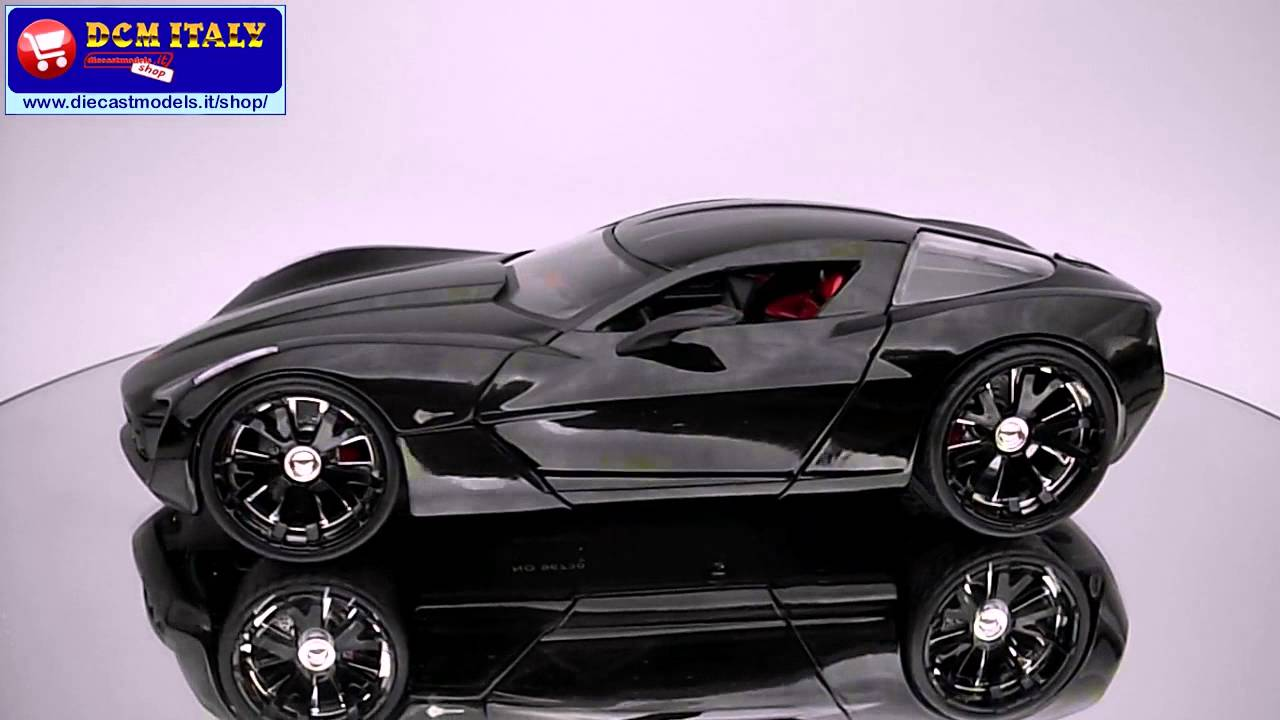 Jada Toys Chevrolet Corvette Stingray Concept 2009 Bblack Hd Youtube