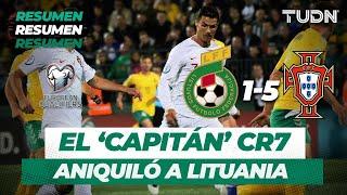 Resumen y Goles Lituania 1 - 5 Portugal | Eliminatoria EURO 2020 | TUDN