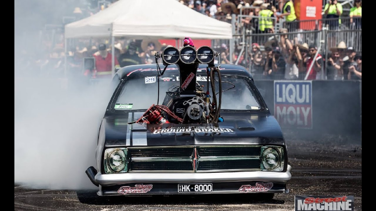 Hk 8000 Top Fuel Burnout Car At Summernats 29 Youtube