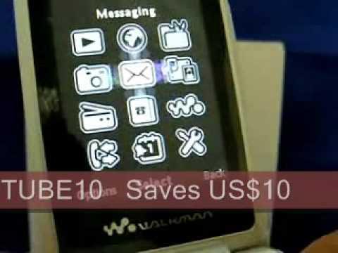 Sony Ericsson W508 Walkman Unlocked Phone Unboxing Demo Review