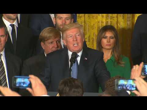 Trump welcomes Pittsburgh Penguins to White House