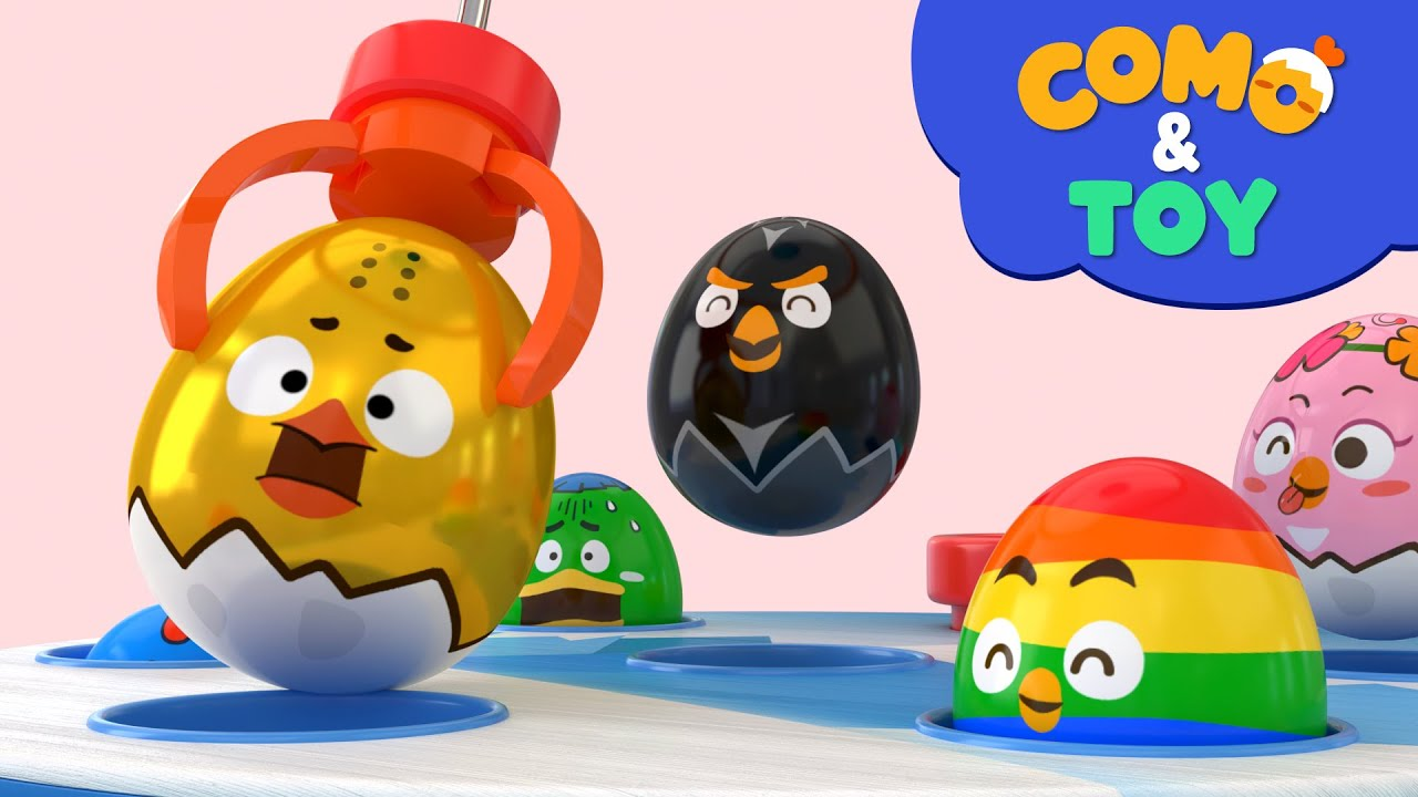 Como | Mole game + Claw machine 3 | Learn colors and words | Cartoon video for kids | Como Kids TV