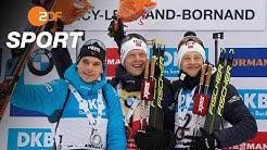 Biathlon Männer: Erster Massenstart   SPORTextra - ZDFsport