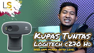 Logitech c270 HD WEBCAM MURAH ENTRY LEVEL !! #Unboxing n Review