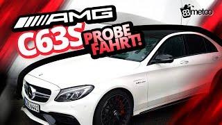 Mercedes C63 AMG S Limousine Probefahrt Sound Check, Autobahn, Landstraße, Fahrassistenz-Paket Plus