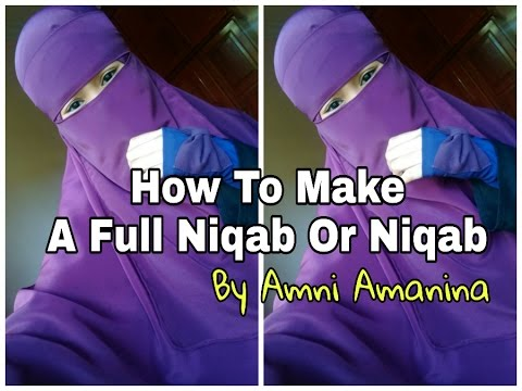 how to make your own niqab