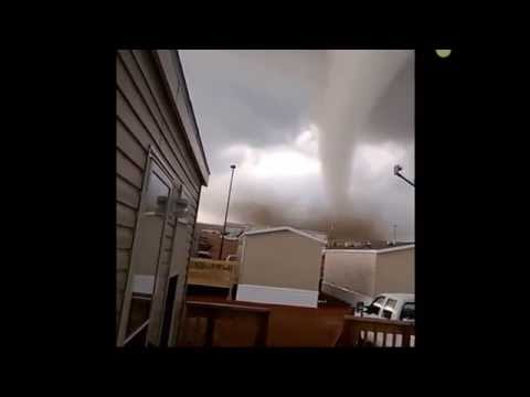 Tornado Catches Two Men Off Guard & Nowhere to Go In Olkahoma