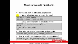 كورس PL SQL   المحاضره الثانيه عشر  Creating Stored Functions