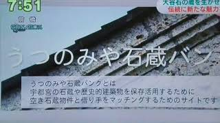 大谷石石蔵BANKをNHK首都圏ニュースでとりあげてくれました。