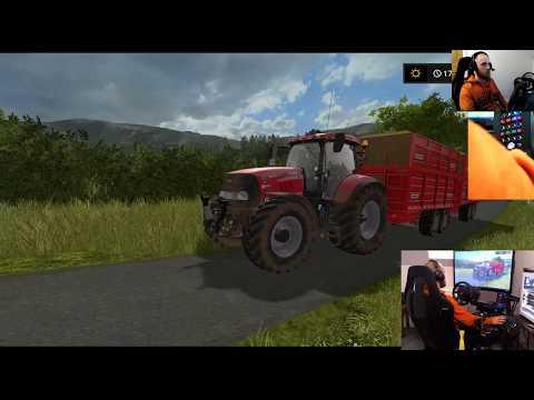 farming simulator 17 lets play selby farm E3 cow time wheel+joysticks