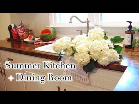 SUMMER KITCHEN + DINING ROOM TOUR