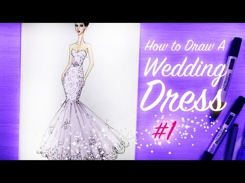 how-to-draw-a-wedding-dress-#1-|-fashion-drawing