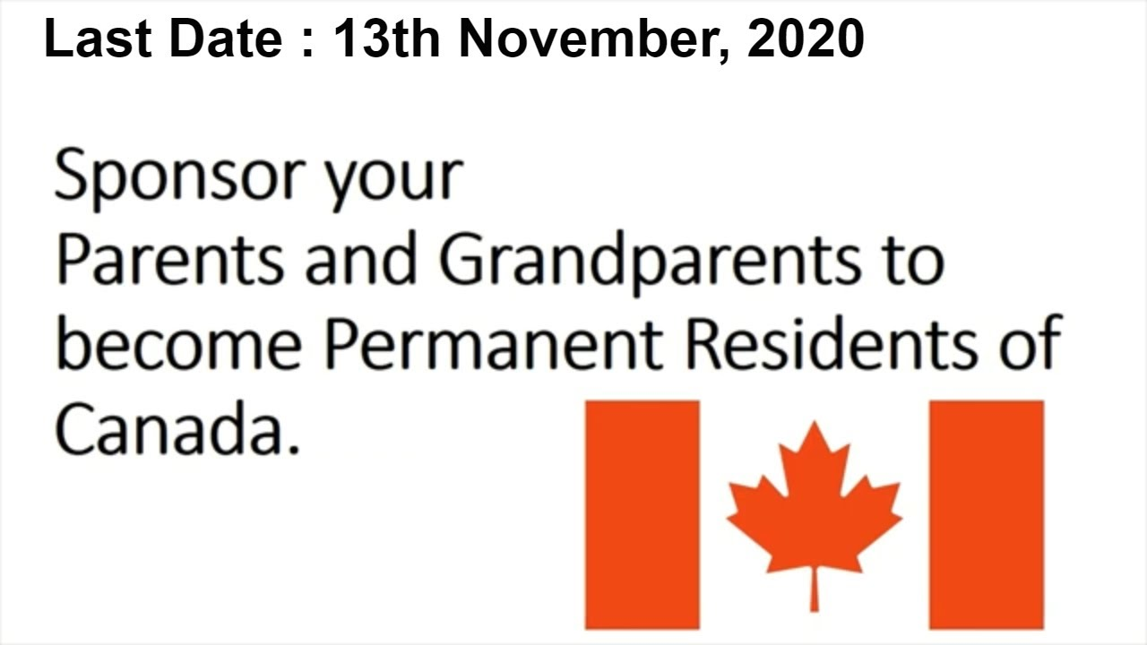 Sponsor Your Parents To Canada 2020 Youtube