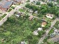 Aerial view shows scale of Jefferson City tornado damage
