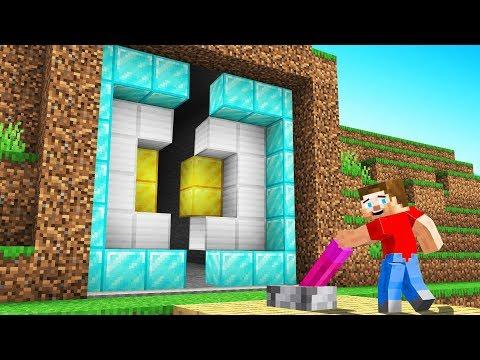I BUILT a HIDDEN DOOR For My MINECRAFT SECRET! (Troll Wars)