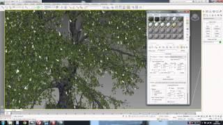 3D max. Загрузка в сцену моделей деревьев и наложение их текстур