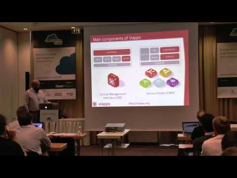 OpenNebulaConf 2013 - Best Practices to Create Infrastructure Services in OpenNebula Using viapps