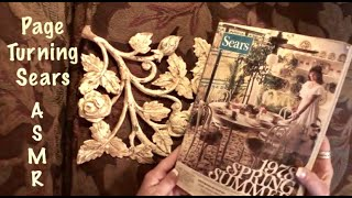 ASMR Page turning of 1978 Sears catalogue (No talking) paper crinkles