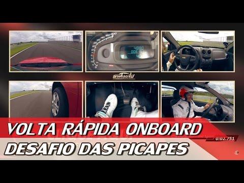 FIAT TORO X RENAULT DUSTER OROCH X GM MONTANA - VOLTA RÁPIDA ONBOARD #64   ACELERADOS