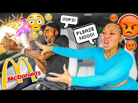 THROWING My HUNGRY Girlfriend FOOD Out The WINDOW To See Her REACTION! LEADS TO BREAK UP 💔 |