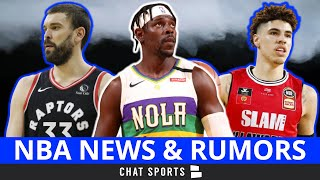 NBA Trade Rumors On Jrue Holiday To The Warriors, LaMelo Ball To The Raptors & Billy Donovan News