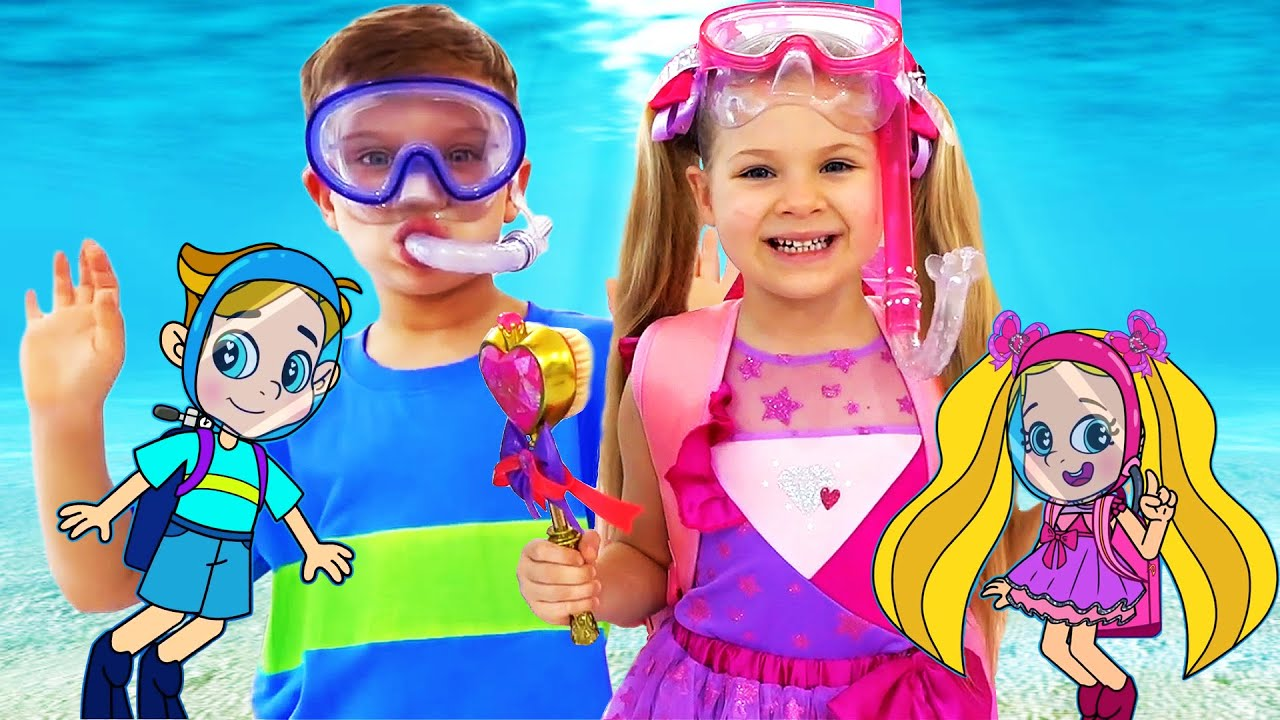 Download Diana and Roma Funny Swim Story Cartoon for Kids