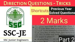 7) Direction Sense | Part 2 - SSC JE | General Reasoning | Tricks & Shortcuts - Hindi