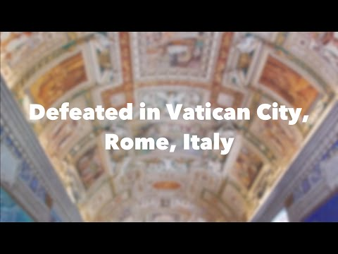 Defeated in Vatican City, Rome, Italy | zozzyroberts