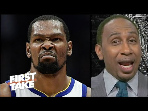 Stephen A. is in awe of Kevin Durant's playoff stats | First Take