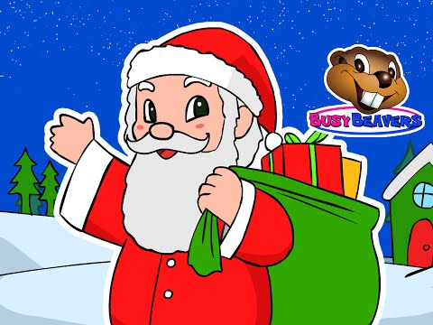 """""""Here Comes Santa Claus""""   Busy Beavers Christmas Song, Babies, Toddlers, Preschool Sing-Along"""