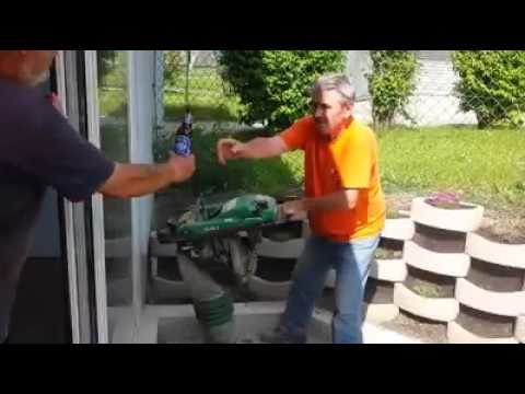Funny Russian with a Trench Hammer (Hilti) Ambidextrous Beer Fail