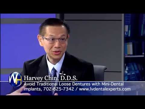 No More Loose Dentures with Mini-Dental Implants with Las Vegas Dentist Harvey Chin, DDS