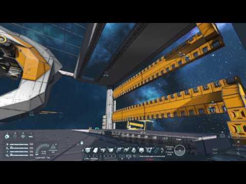 Space Engineers - (Very) large airtight hangar bay doors