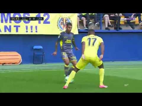 Caño de Jonathan Viera a Bakambu narrado por Miguel Angel Roman en el Villarreal 4 UD las Palmas 0