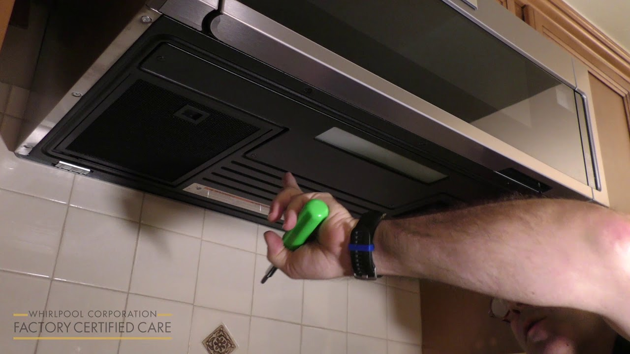 how to replace the led light on your low profile microwave