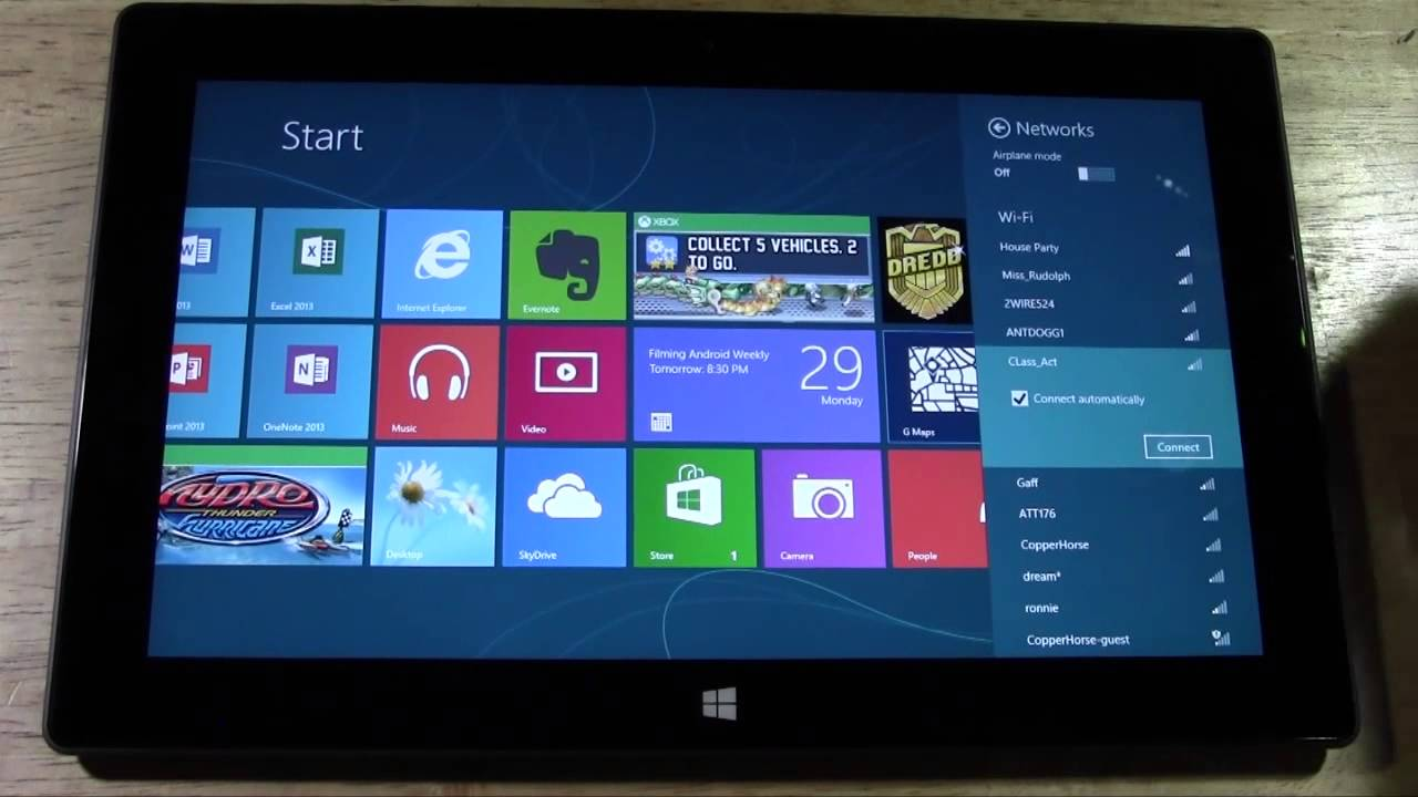 Surface tablet how to connect to wifi h2techvideos youtube surface tablet how to connect to wifi h2techvideos greentooth Gallery