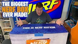 The Biggest Nerf Box EVER MADE! 2019 Nerf Nation Ambassador Unboxing!