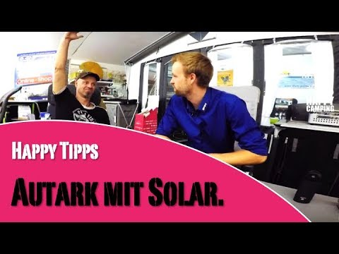 wohnwagen autark mit solar happy camping youtube. Black Bedroom Furniture Sets. Home Design Ideas