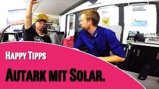 Wohnwagen autark mit Solar | HAPPY CAMPING