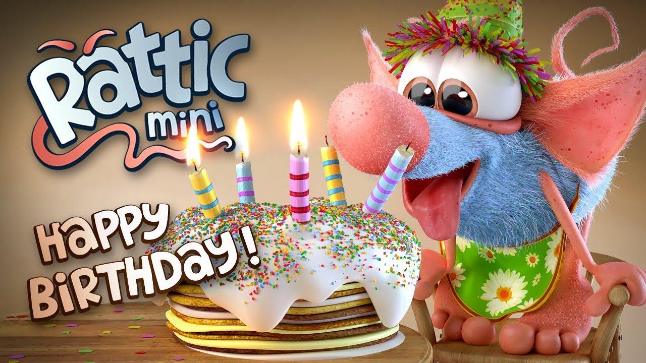 Happy Birthday Funny Cartoon Rattic Mini Happy