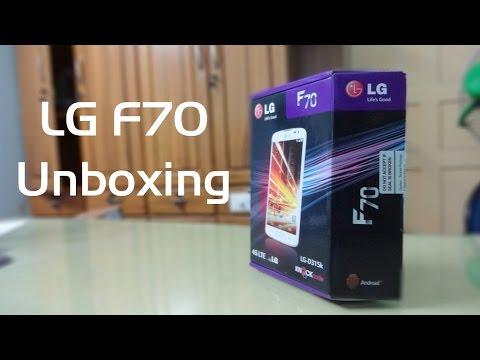 LG F70 Unboxing